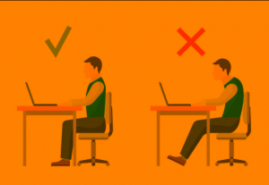 A photo that shows how to sit the right way